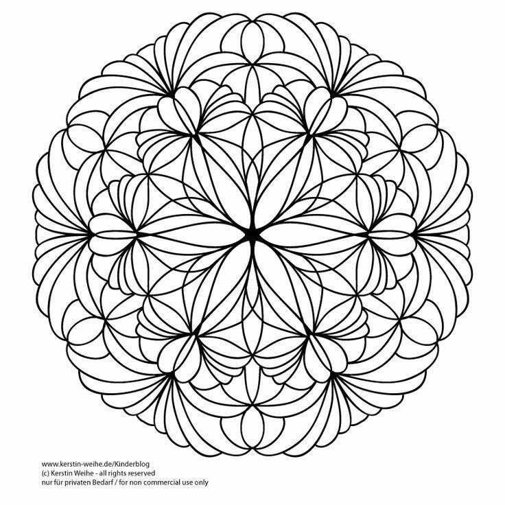 100 besten coloriage mandala Bilder auf Pinterest   Malbücher ...
