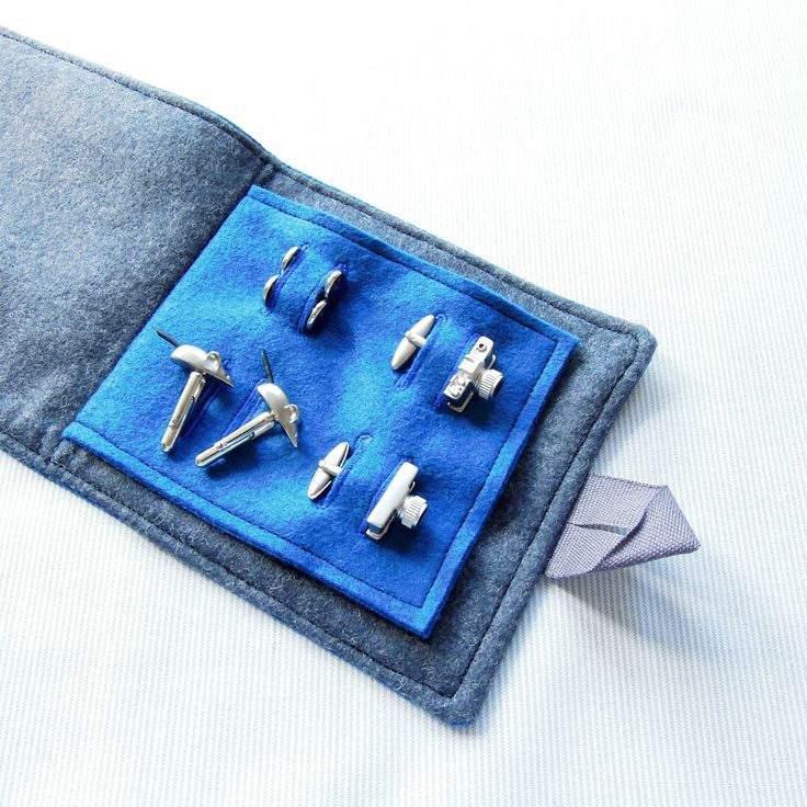 We wanted to make our wedding as handmade as possible and this even extended to the gifts for our bridal party! For our two ushers I made cufflink cases, from the same blue linen as the ties and li...