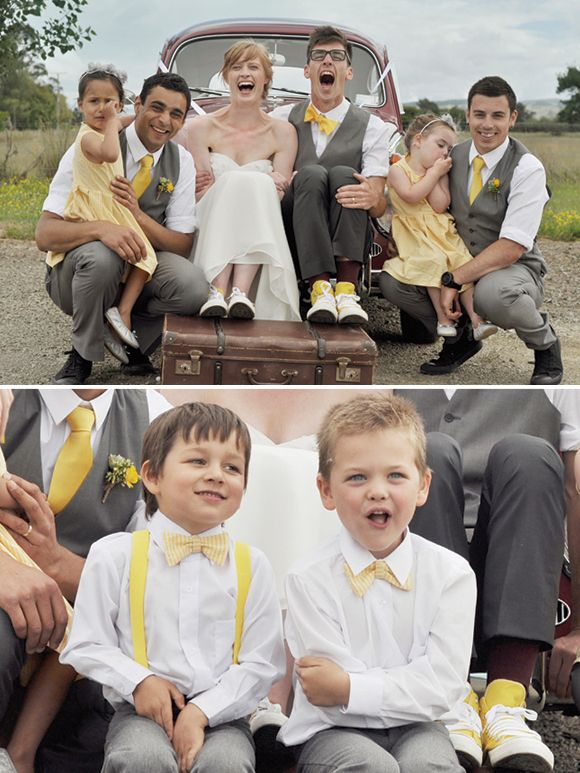 Seriously, there need to be little kids in bow ties and suspenders at this wedding.