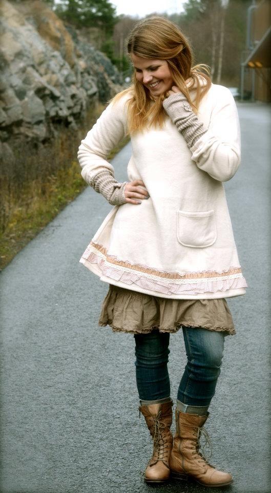 Tina Wodstrup fleece tunic for a not so full-on romantic look.