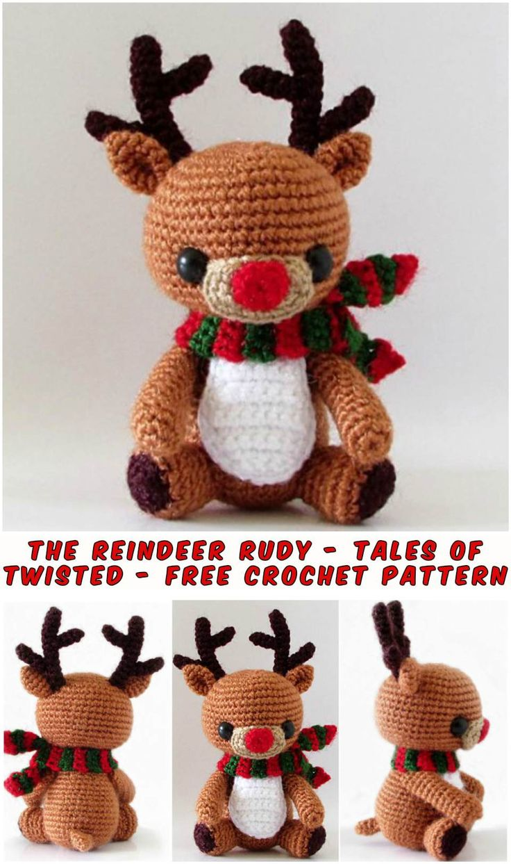 The Reindeer Rudy – the best crochet amigurumi pattern with this amazing creature. Head, Legs, Tail, Muzzle, Arm, Nose, Eye, Ear, Antler, and Scarf. Sew up together all the parts of the body and give this amazing toy for a Christmas. Full article with the patterns is below. SAVE THIS PATTERN TO YOUR CROCHET PINTEREST BOARD HERE! …