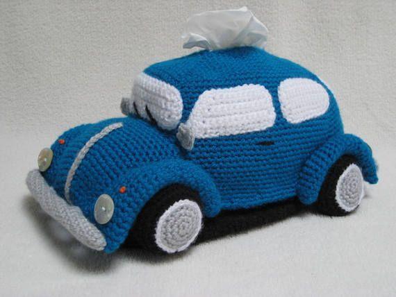 Haakpatroon VW Kever Tissue Houder PDF Patroon Volkswagen