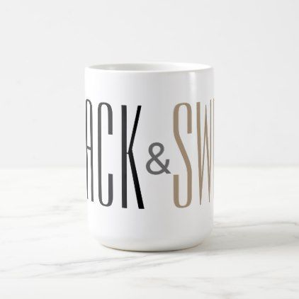Black and sweet text coffee mug - home gifts ideas decor special unique custom individual customized individualized