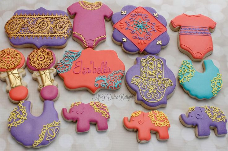 Moroccan-Themed Baby Shower Set | Cookie Connection