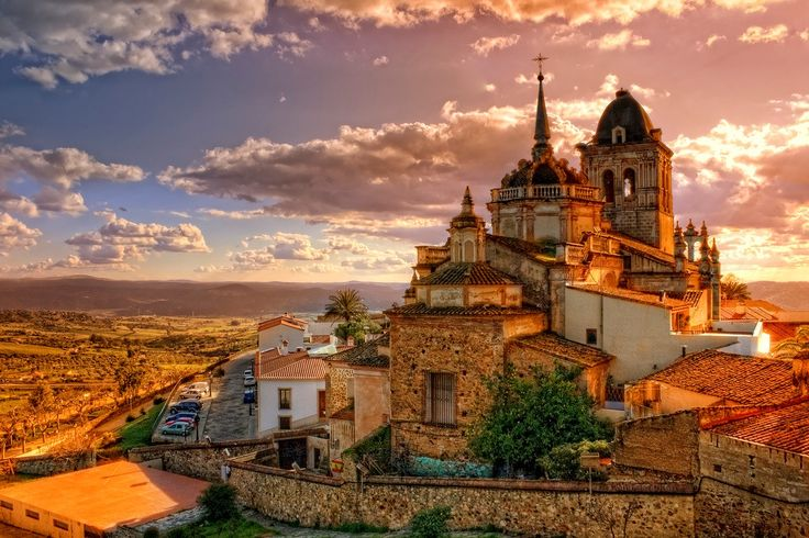 Extremadura, Spain. This is an overlooking view of the beautiful city.
