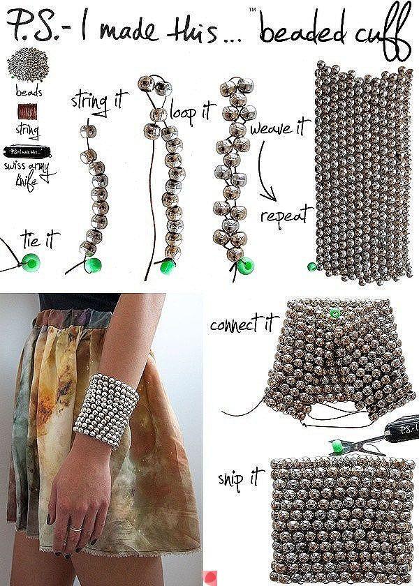 Beaded Cuff diy crafts craft ideas easy crafts diy ideas crafty easy diy diy jewelry diy bracelet craft bracelet jewelry diy craft cuff diy cuff