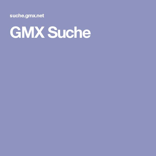 GMX Suche