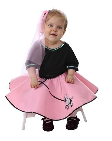 50's Poodle Skirt Baby Set