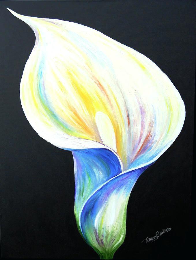 Calla Lily Canvas Print Art By Tracey Bautista Pinterest Acrylbilder Blumen Sehr Beliebt Painting Fine Vorlagen Lily Painting Painting Oil Pastel Art