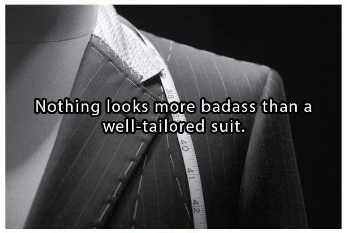 Nothing looks more bad-ass than a well tailored suit | www.piclectica.com #piclectica