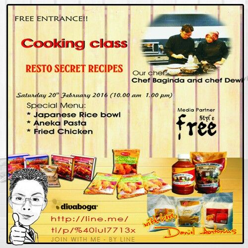 Join US : http://line.me/ti/p/%40iul7713x @danielantonius @komunitasbisnis @komunitasusaha #eventjakarta #eventjkt #eventorganizer #eventmanagement #cookingclass #recipes #resto #secret #japanese #pasta #ricebowl #friendchicken #chef #cooking #class