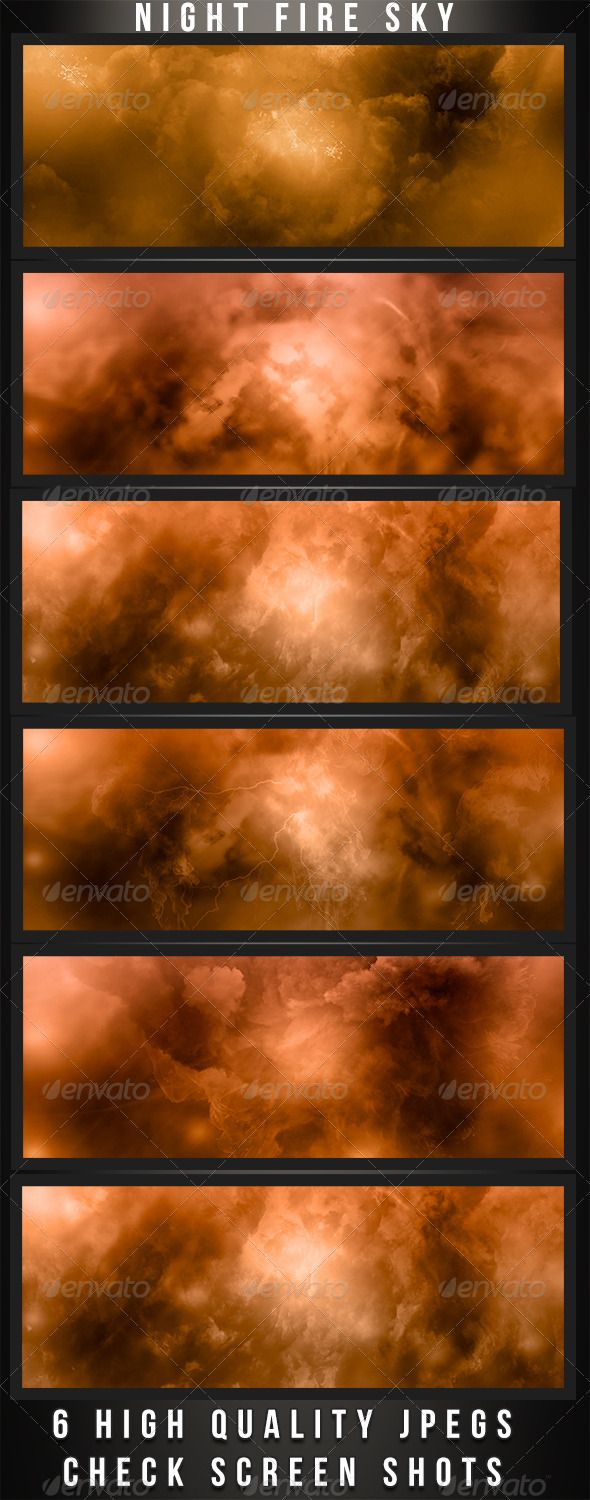Fire Night Backgrounds  #GraphicRiver         A pack of six fire backgrounds at night. Each image is a different design with different color schemes. Each image is 3000×2000 and 300 DPI. Check the screen shots for a full view of each background.     Created: 24May13 GraphicsFilesIncluded: JPGImage HighResolution: Yes Layered: No MinimumAdobeCSVersion: CS PixelDimensions: 3000x2000 PrintDimensions: 10x6.7 Tags: background #bursts #cloud #dark #fire #flame #heat #image #night #photoshop #sky…
