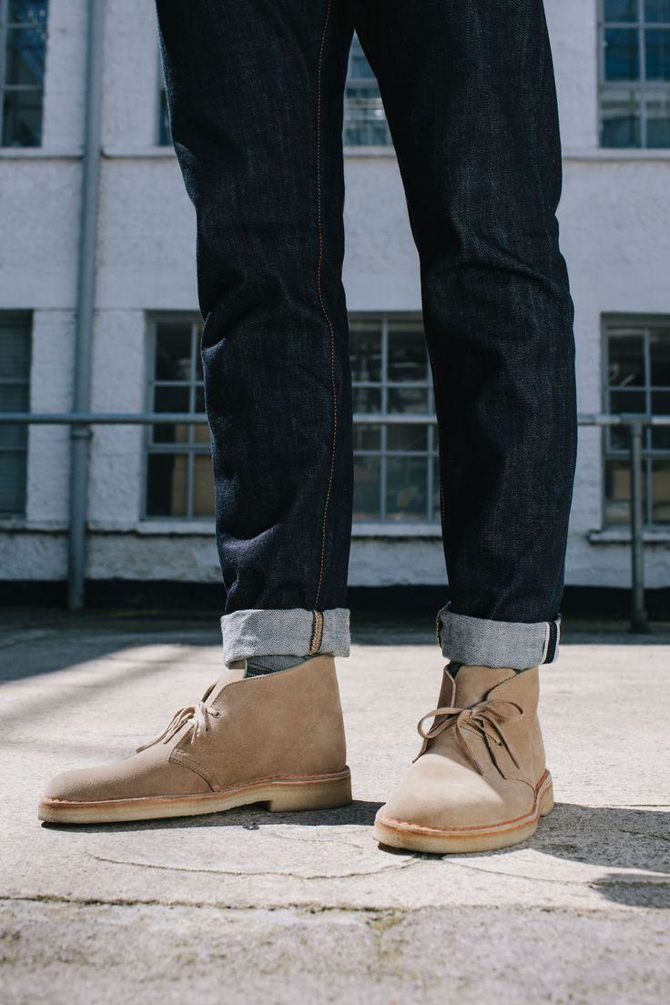 Desert Boot in Sand Suede #ClarksOriginals #Mens #Clarks #SS15 #Boots #Shoes #DesertBoots