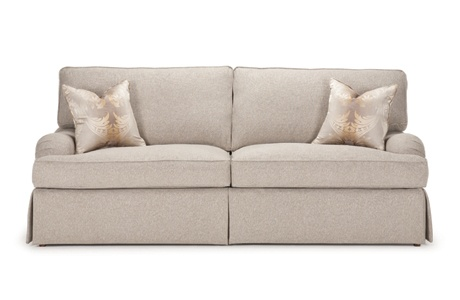 Kingley Sofa from Barrymore (Canada) with waterfall skirt and London Arms