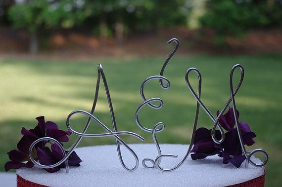 Wire Initials Wedding Cake Topper. The letters match my wedding perfectly in the picture! ;)