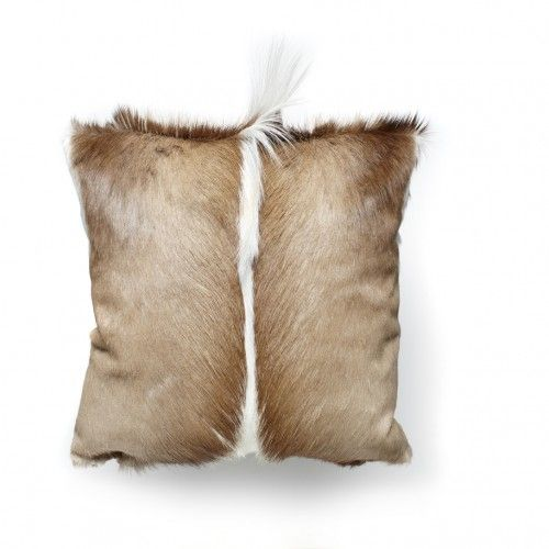 Absolutely full of character this gorgeous throw pillow made from Springbok hide will add striking drama and texture to your seated areas. Handmade in South Africa.