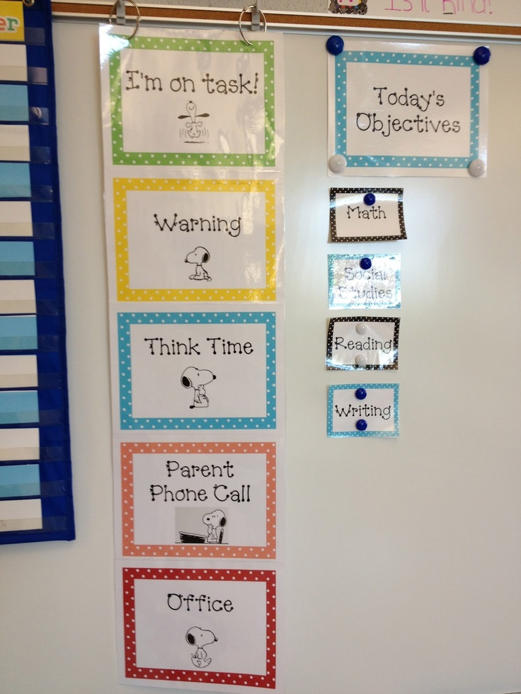 Classroom management--Snoopy Behavior Clip Chart