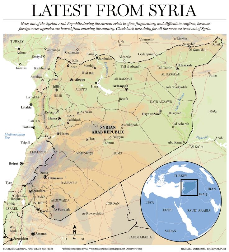 Syria Map - National Post of Canada. ThingLink Interactive Image.