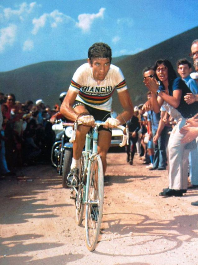 Felice Gimondi—who won the Tour in '65—rode a Celeste-green 1967 Bianchi for several years.