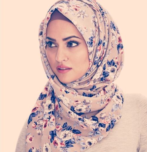 Floral Hijabs For Autumn Winter 2013 Hijab Fashion
