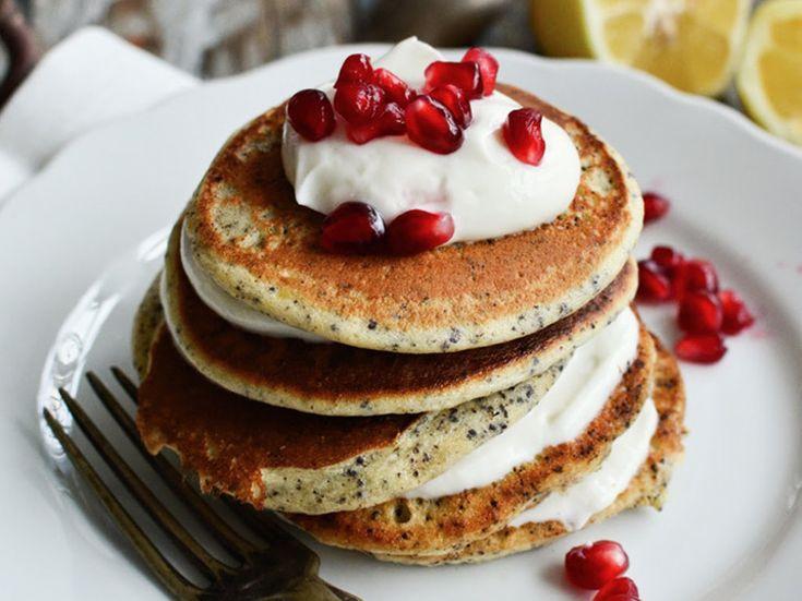 DIY tutorial: Lemon & Poppy Pancakes with Quark Cream  via en.DaWanda.com