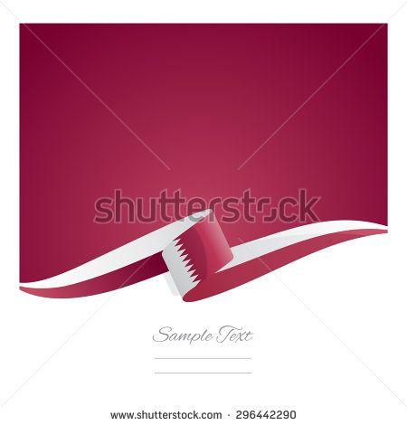 New abstract Qatar flag ribbon