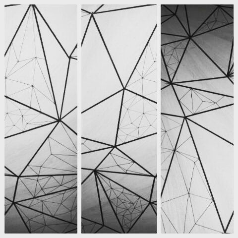 #polygon #drawing #blackandwhite #triangles