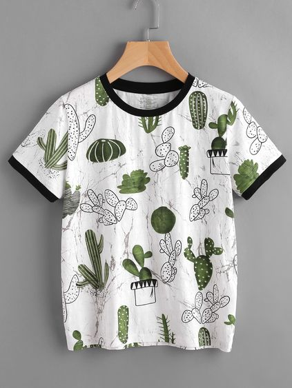 Cactus And Marble Print