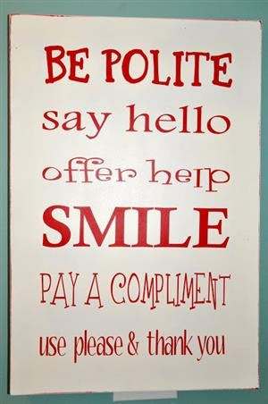 les bonnes maniéres - or  good manners today