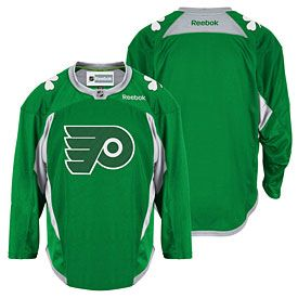 3a4af2cb8 ... Get this Philadelphia Flyers St. Patricks Day Practice Jersey at  PhillyTeamStore.com ...