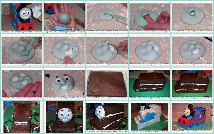 thomas tank cake tutorial - Google Search