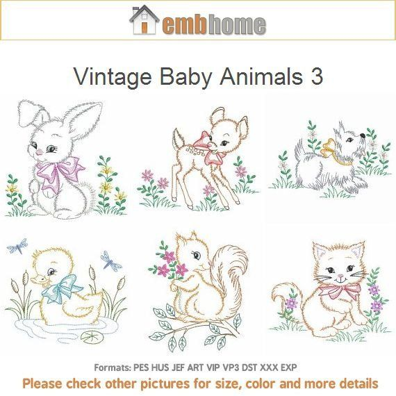 Animals Embroidery ~ a Vintage Pattern