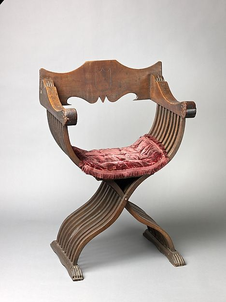 Folding armchair (sedia a Savonarola type) | Italian | The Met