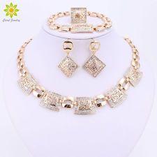 Módne šperky Súpravy Svadobné doplnky Crystal pozlátený Svadobný náhrdelník Set