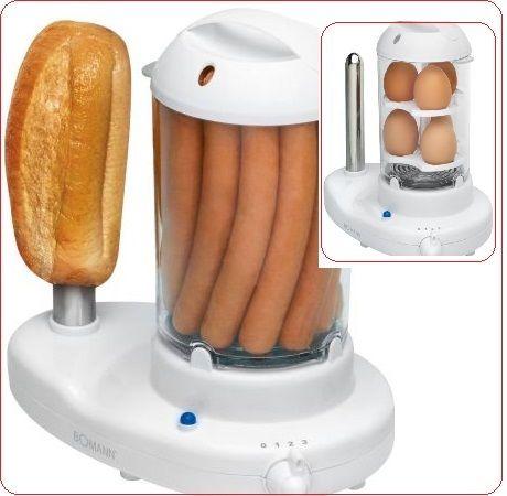 Уред за приготвяне на хот-дог и варене на яйца BOMANN HDM 462 EKCB.Вземи Сега  с Отстъпка 50%.!2в1 Хотдог машина и Яйцеварка -До 14 кренвирша,До 6 яйца,Подвижен прозрачен резервоар за пара!Купи онлайн от eMAG, бързо и лесно! Проверка на пратката ·Плащане при доставка.Виж други нови оферти и промоции от eMAG. Бърза доставка и срок за връщане до 30 дни за продукти eMAG Виж тук ➡ https://profitshare.bg/l/162581