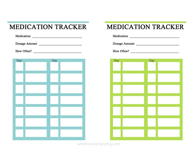 free printable  medication trackers