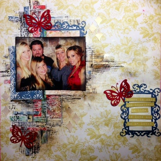 Couture Creations: Happiness in Life by Tina Connolly | #couturecreationsaus #scrapbooking #embossingfolders #decorativedies #mixedmedia #coredinations