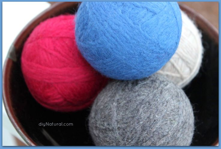 How to Make Wool Dryer Balls: Diy Natural, Homemade Cleaning, Diy Dryer Ball, Diy Cleaning, Felted Wool, Homemade Wool, Cleaning Products