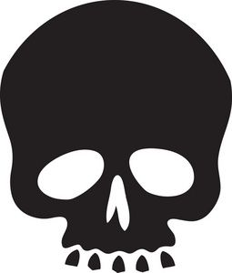 Image result for simple skull drawing