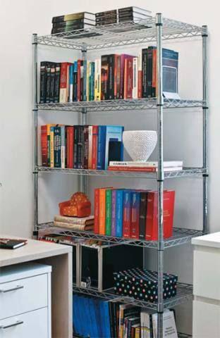 7. Praticidade no dia a dia. A estante metálica Ultradur com seis prateleira...