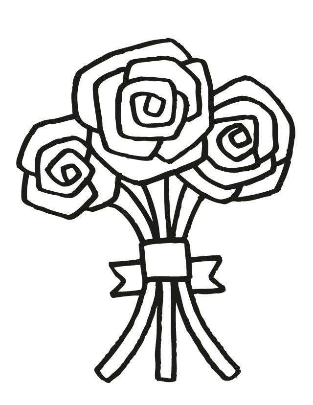 wedding coloring pages free printable coloring pages for kids wedding bouquet - Wedding Coloring Pages Free Printable
