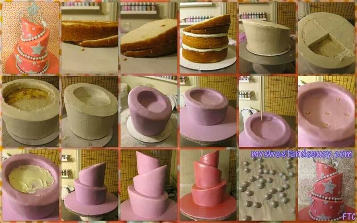 How to: topsy turvy cake