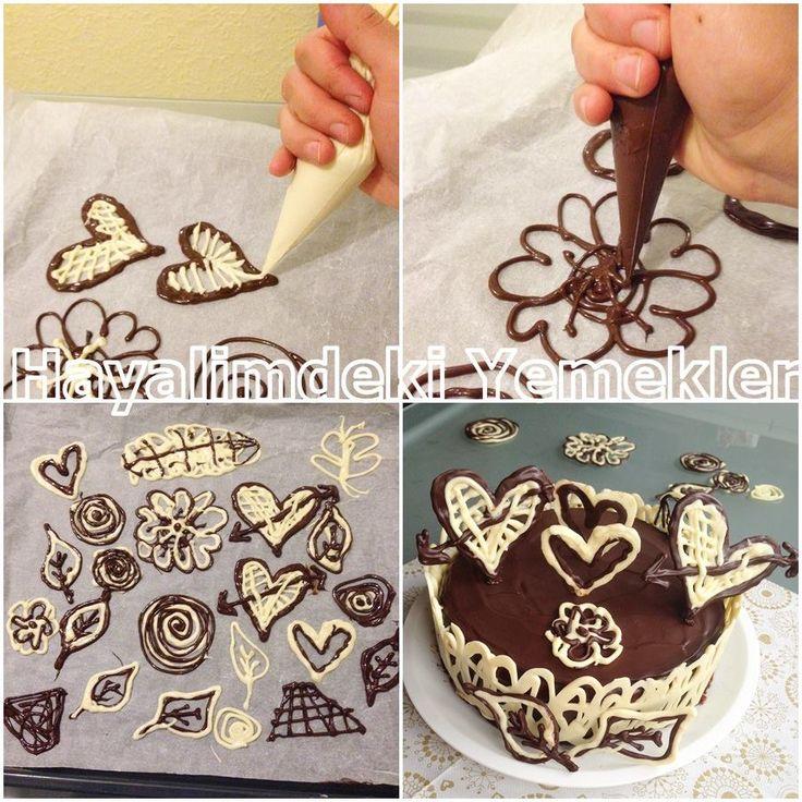 čokoládové ozdoby (inspirace z FB)
