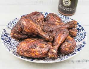 BBQ Chicken- The Dove Chocolate Discoveries BBQ Sauce has less sugar than two of my favorite shelf BBQ sauces. Just sayin'. Order it from me at http://mydcdsite.com/dani