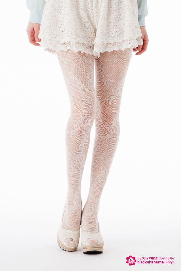 ivy flower net tights JPY350-