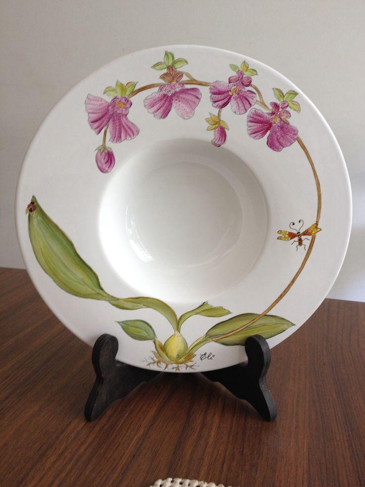 Orquídeas pintada a mão