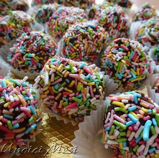 Salame di cioccolato a palline