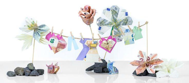 Geldscheine falten – 10 Falttechniken für ausgefallene Geldgeschenke