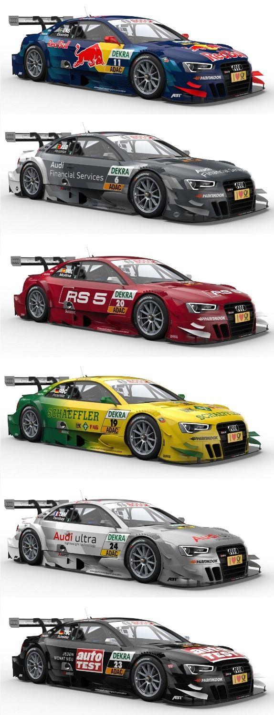 Some of Audi Racing's 2013 German DTM Touring Car Teams !