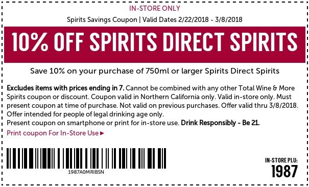 Total Wine Coupons Promo Codes Deals April 2018